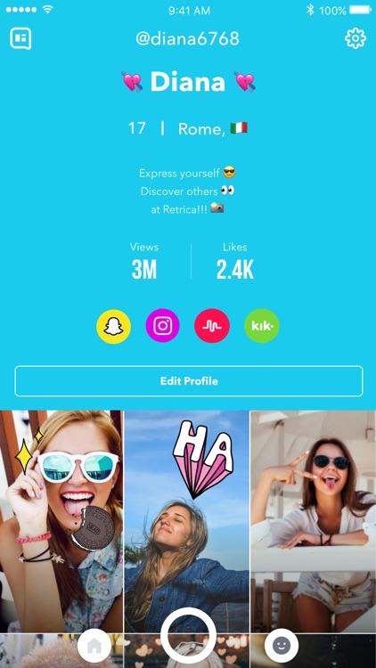 Retrica - Selfie Camera with Filter, Sticker & GIF screenshot-4