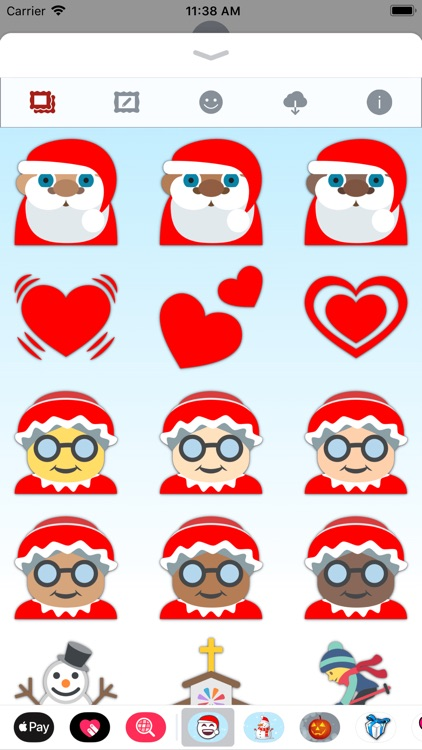 christmas emoji stickers screenshot 7