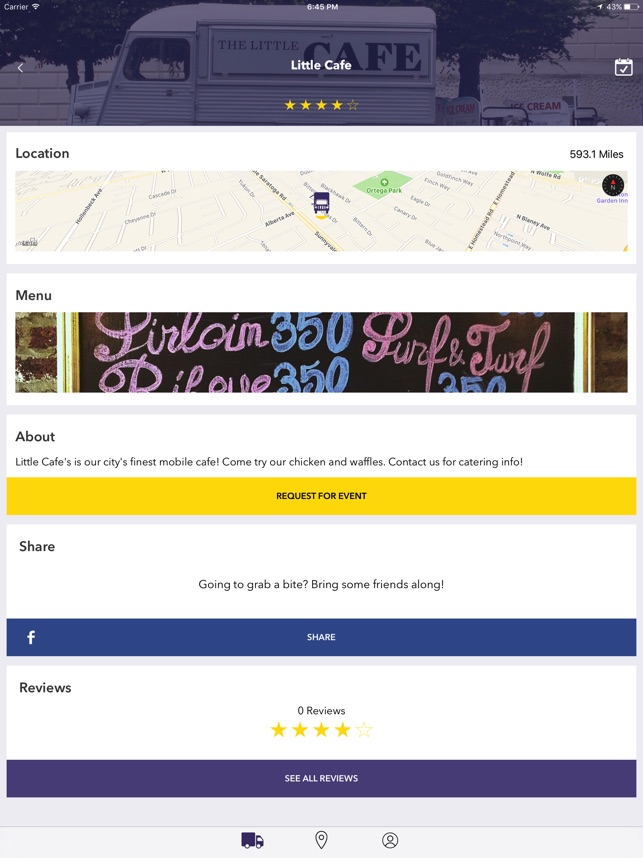 mobiledelicious real time food truck locator on the app store