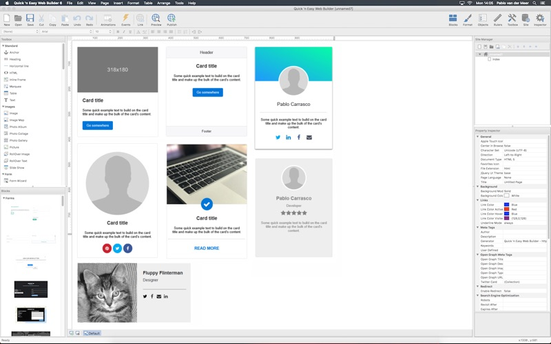 Quick 'n Easy Web Builder 6 for Mac