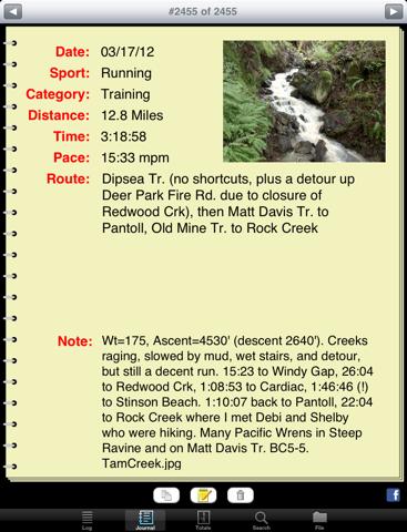 Athlete's Diary for iPad - náhled