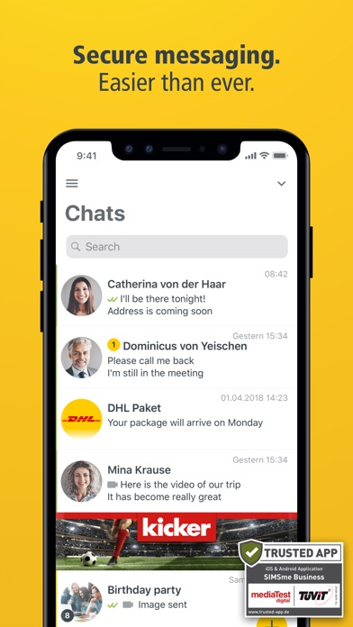SIMSme – Your secure messenger screenshot one