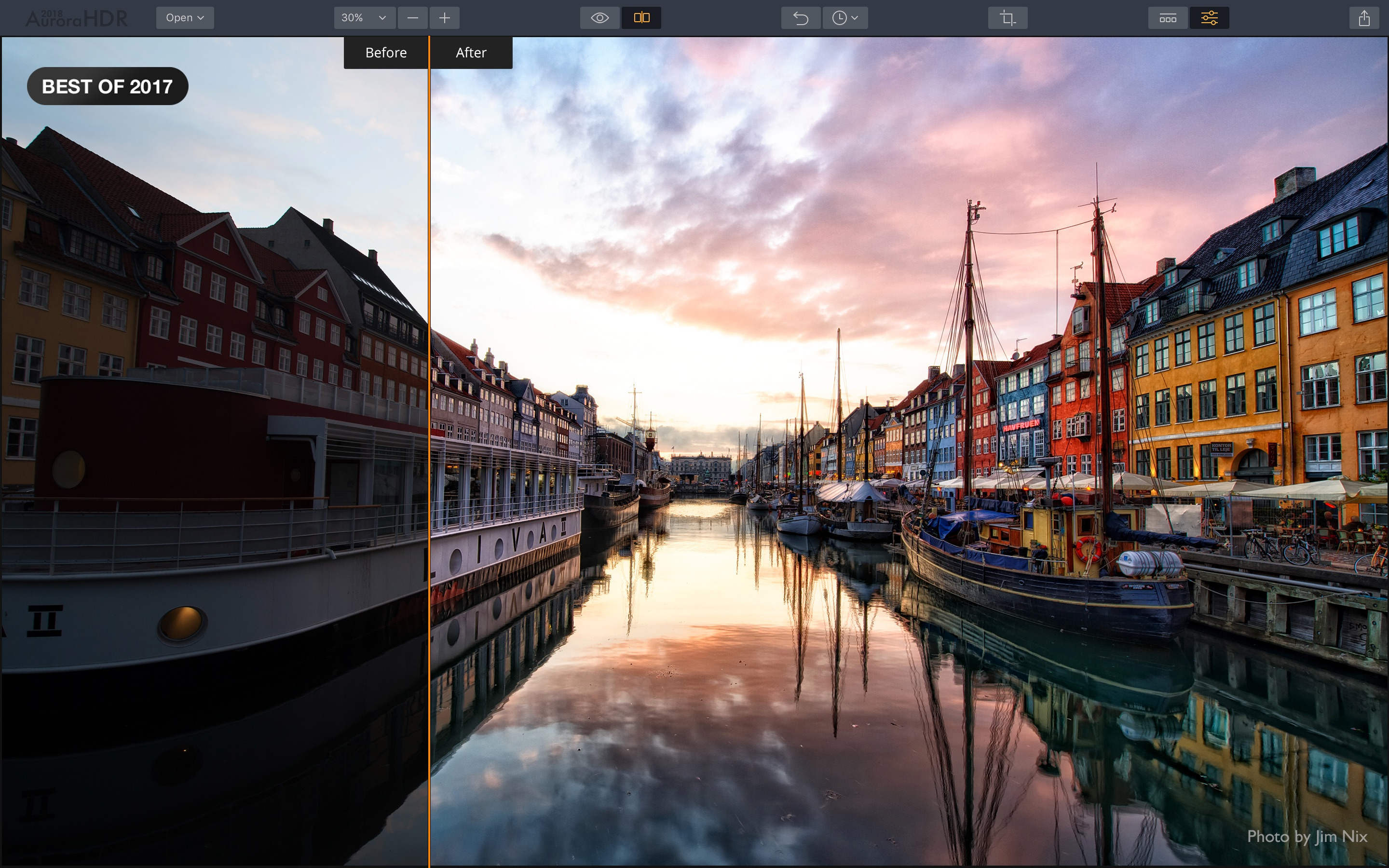 Screenshot do app Aurora HDR 2018