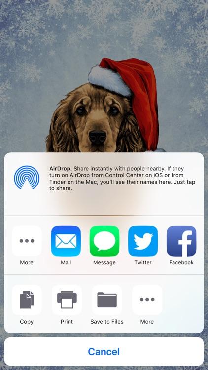 Happy Dog Holiday Cards screenshot-4
