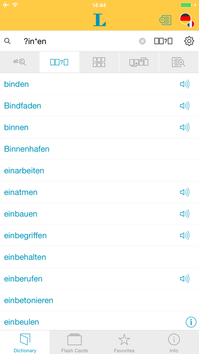 Big German French Dictionary screenshot four