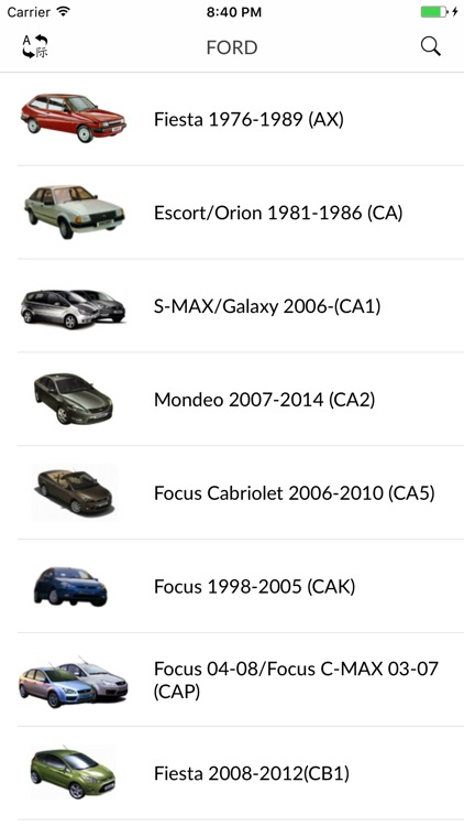 Car parts for Ford