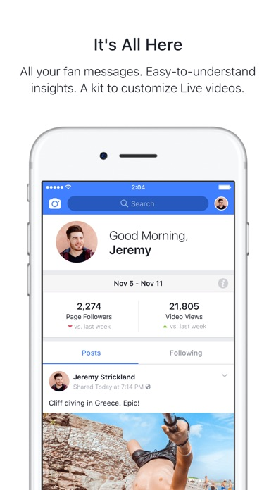 Screenshot for Facebook Creator in United States App Store