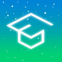 Via Itunes.com [Image description: Pocket Schedule app logo, a graduation cap against a blue and green backdrop.]