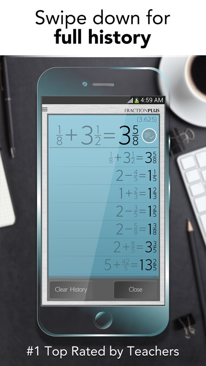 Fraction Calculator Plus - Get it right every time