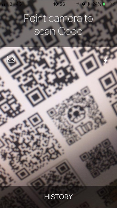 QR/Barcode Reader Lite Screenshot on iOS