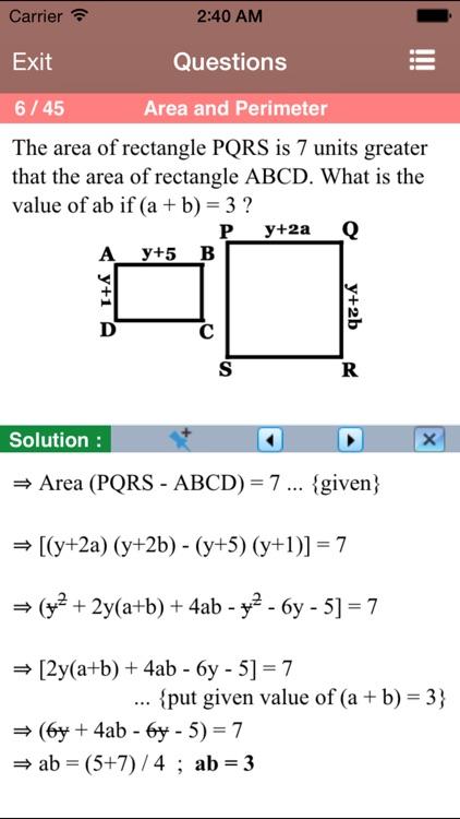 PSAT Math Aptitude screenshot-3