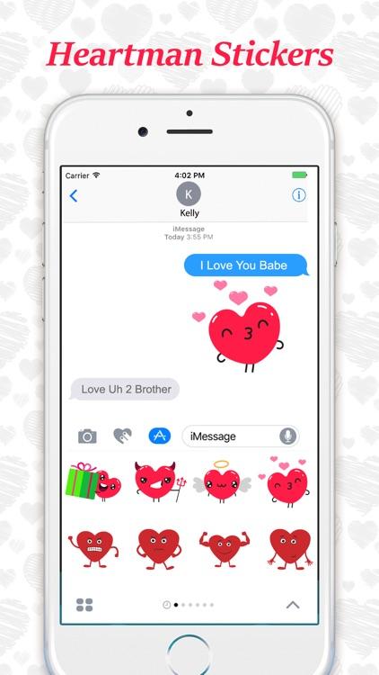 Animated Heartman Emojis screenshot-3