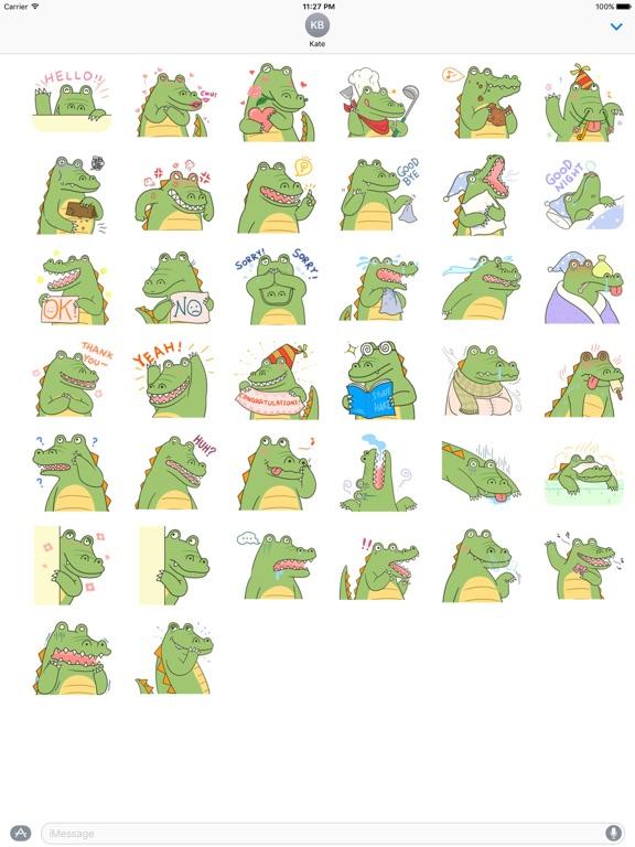 Cute Crocodile Emoji Sticker screenshot 4
