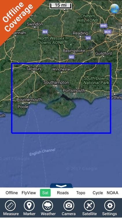 Marine : Solent HD - GPS Map Navigator screenshot-4