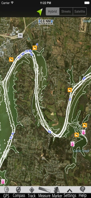 Old Hickory Lake Topographic Map.Old Hickory Lake Gps Charts On The App Store