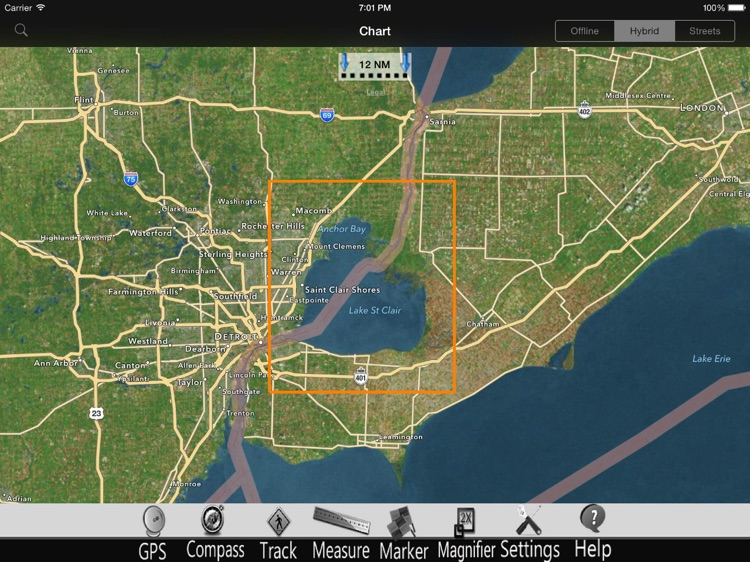 Lake St. Clair GPS Charts Pro screenshot-4