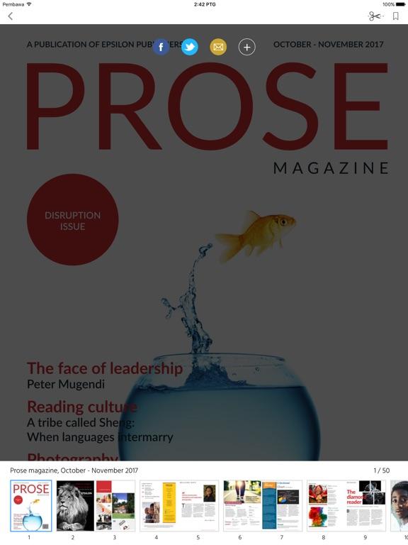 Prose magazine screenshot 7