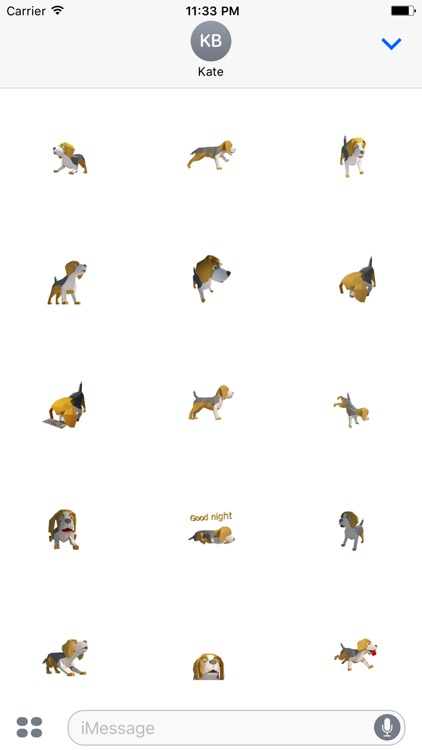 Beagle dog sticker animated