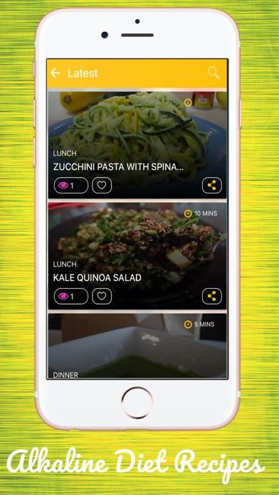 Alkaline acid diet recipes Screenshot