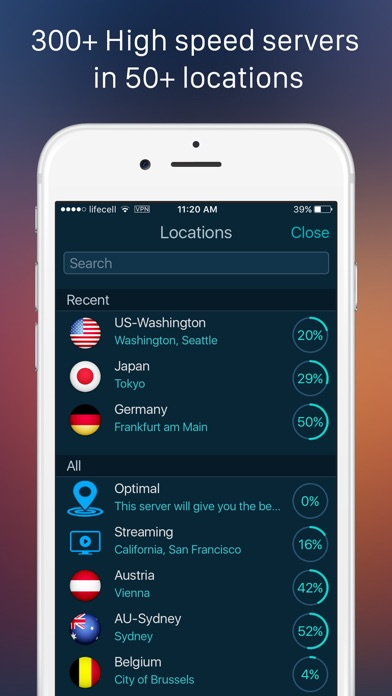 SurfPro VPN – Wifi Protection Screenshot on iOS
