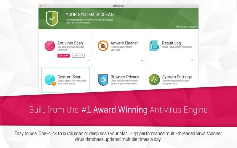 Antivirus BitMedic® Pro Screenshots