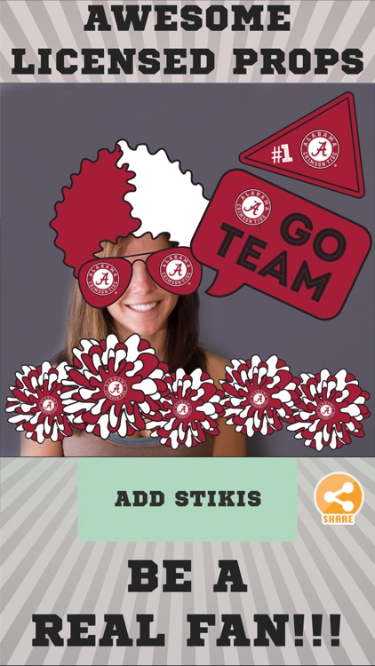 Alabama Crimson Tide Photo Selfie Stickers