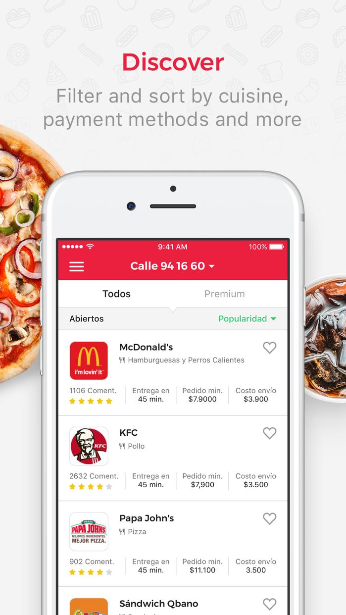 Domicilios.com - Order food Screenshot