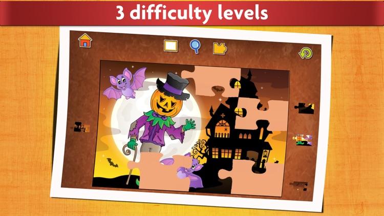 Halloween Kids Jigsaw Puzzles screenshot-3