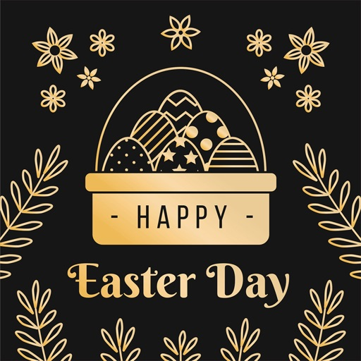 Glittering & Gold Easter Day icon
