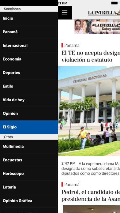 La Estrella de Panamá screenshot three
