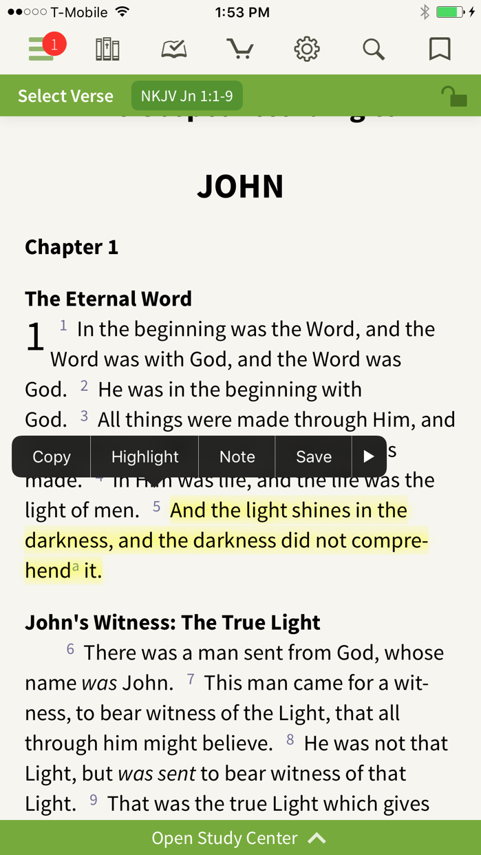 NKJV Bible by Olive Tree Screenshot