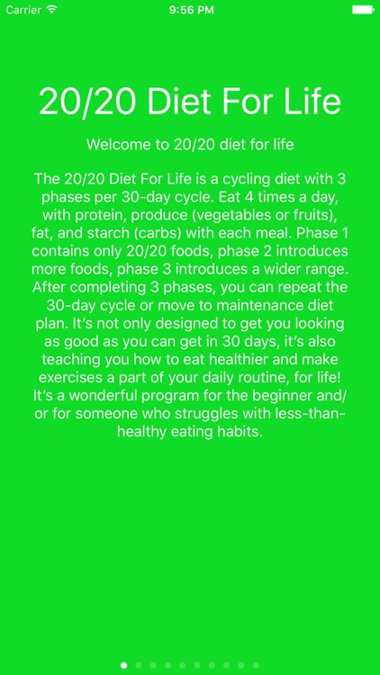 20/20 Diet For Your Life