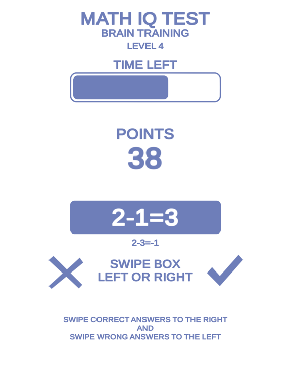 Math IQ Test + Brain Training screenshot 7