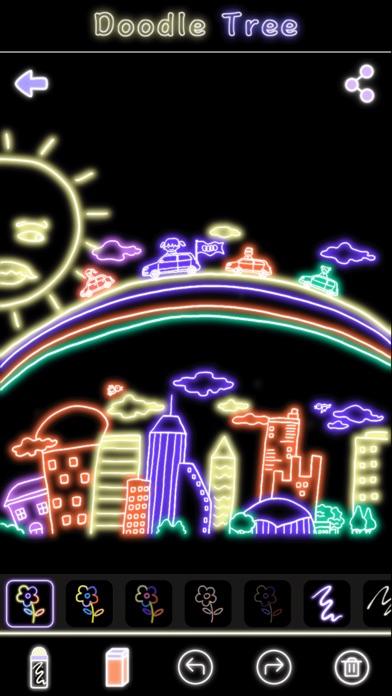 蛍光落書きツリー-マジック手描き図面&マンガ塗り絵 ScreenShot4