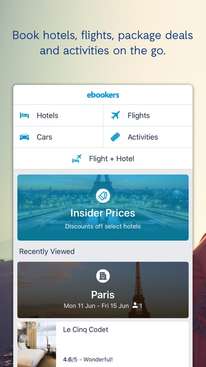 ebookers Hotel & Flights