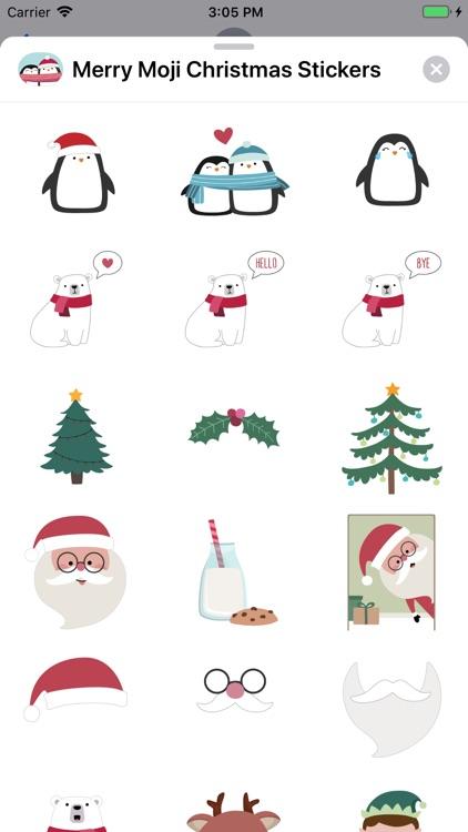 Merry Moji Christmas Stickers