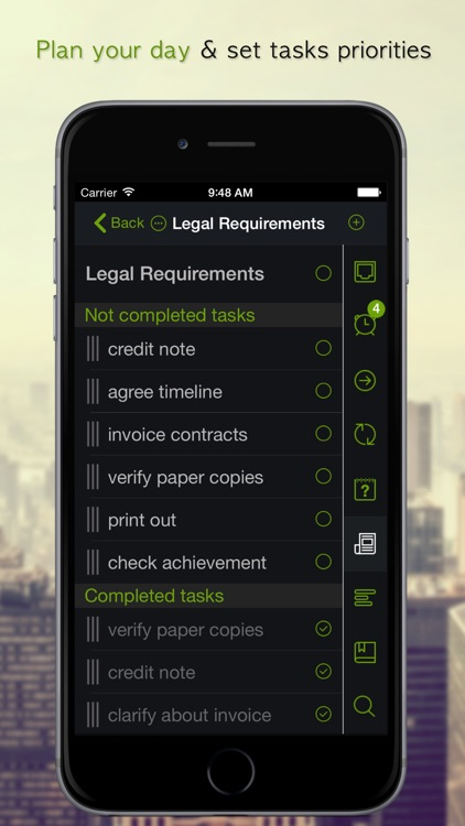 GTD Manager for iPhone screenshot-4