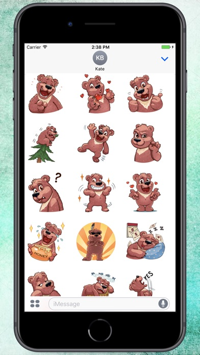 Screenshot for Cute Big Bear Stickers in Colombia App Store