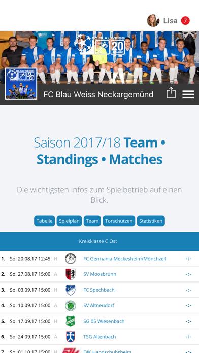 FC Blau Weiss Neckargemünd screenshot 1