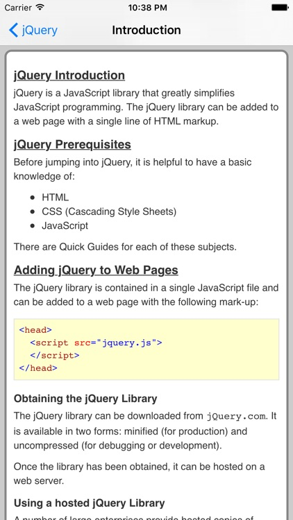 jQuery Pro Quick Guide screenshot-1