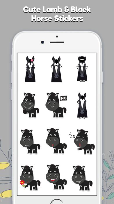 Lamb & Black Horse Stickers screenshot two