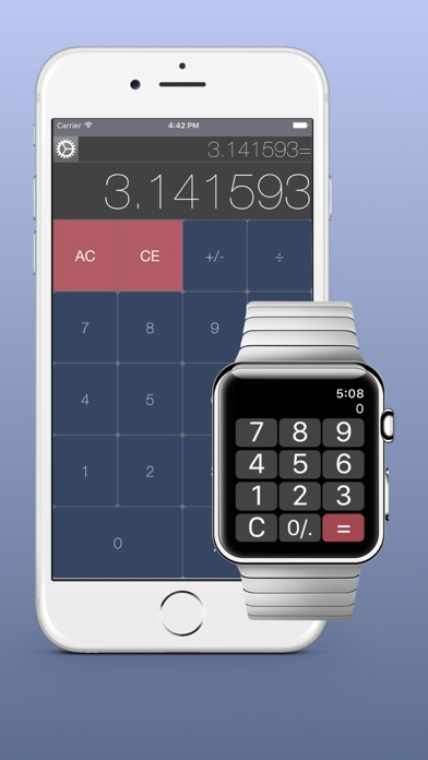 WatchCalQ (旧 電卓時計)のスクリーンショット1