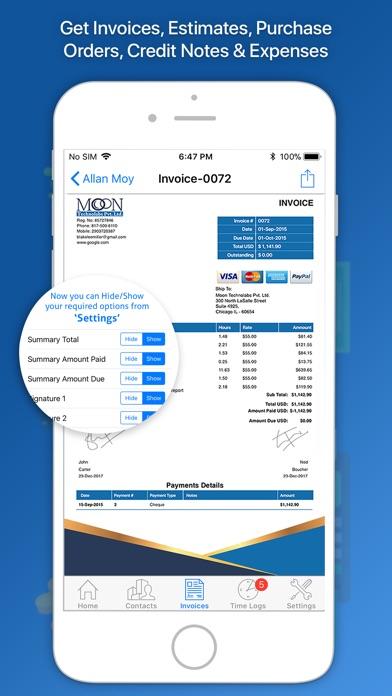 Moon Invoice Easy Invoicing By Moon Technolabs Pvt Ltd IOS - Moon invoice