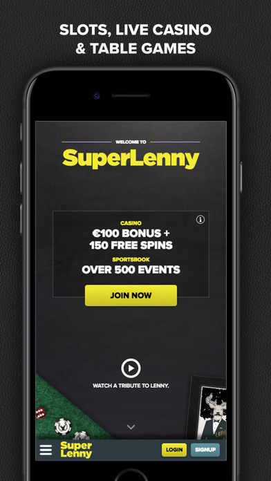 SuperLenny Legendary Casino screenshot one