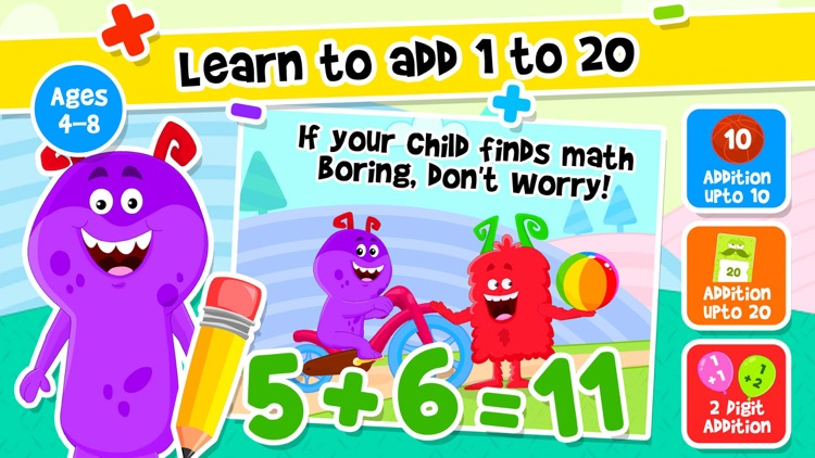 Addition & Subtraction Kids K2 screenshot-0
