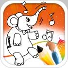 elefante Libro para colorear icon