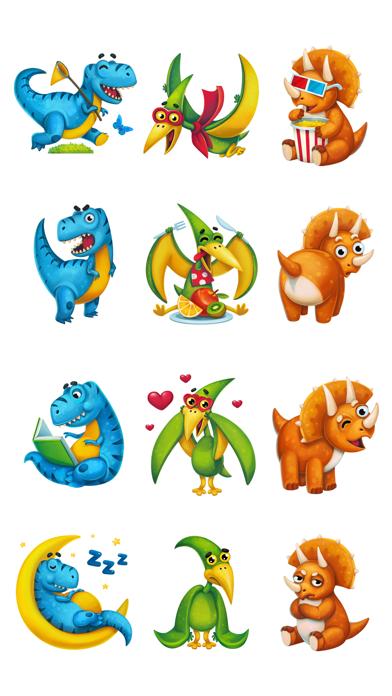 Dino Trio. 恐竜 iMessage ステッカーのスクリーンショット2