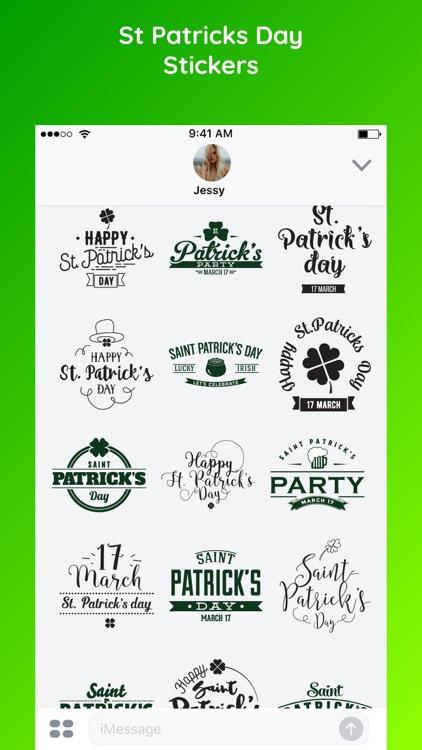 St. Patrick's Day Sticker Emo