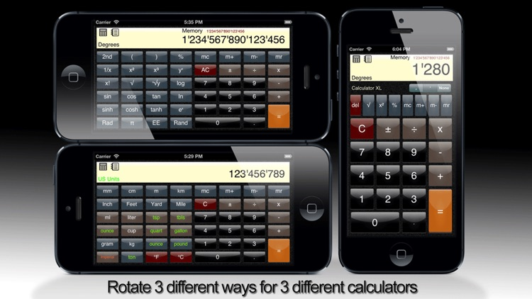 Calculator XL Standard, Scientific, Unit Converter