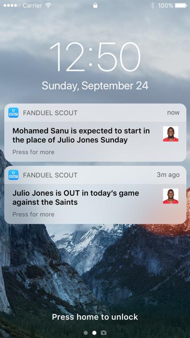 FanDuel Scout screenshot 2
